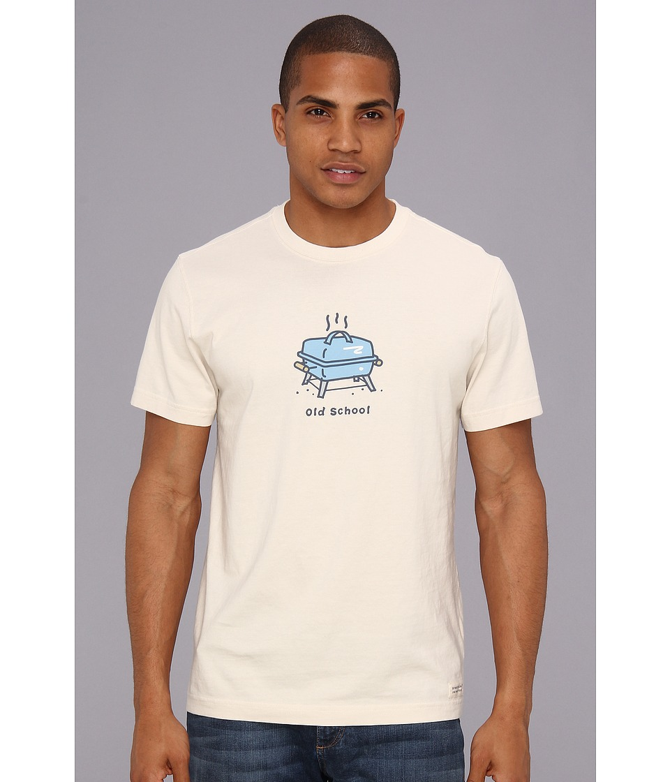 Life is good - Old School Grill Crusher Tee (Putty White) Men's T Shirt