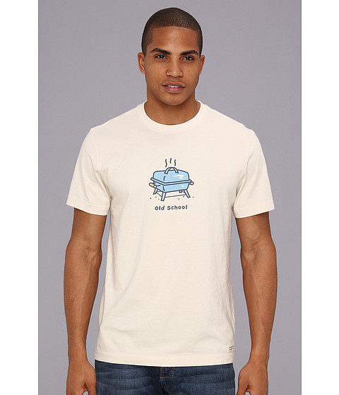 Life is good - Old School Grill Crusher Tee (Putty White) Men