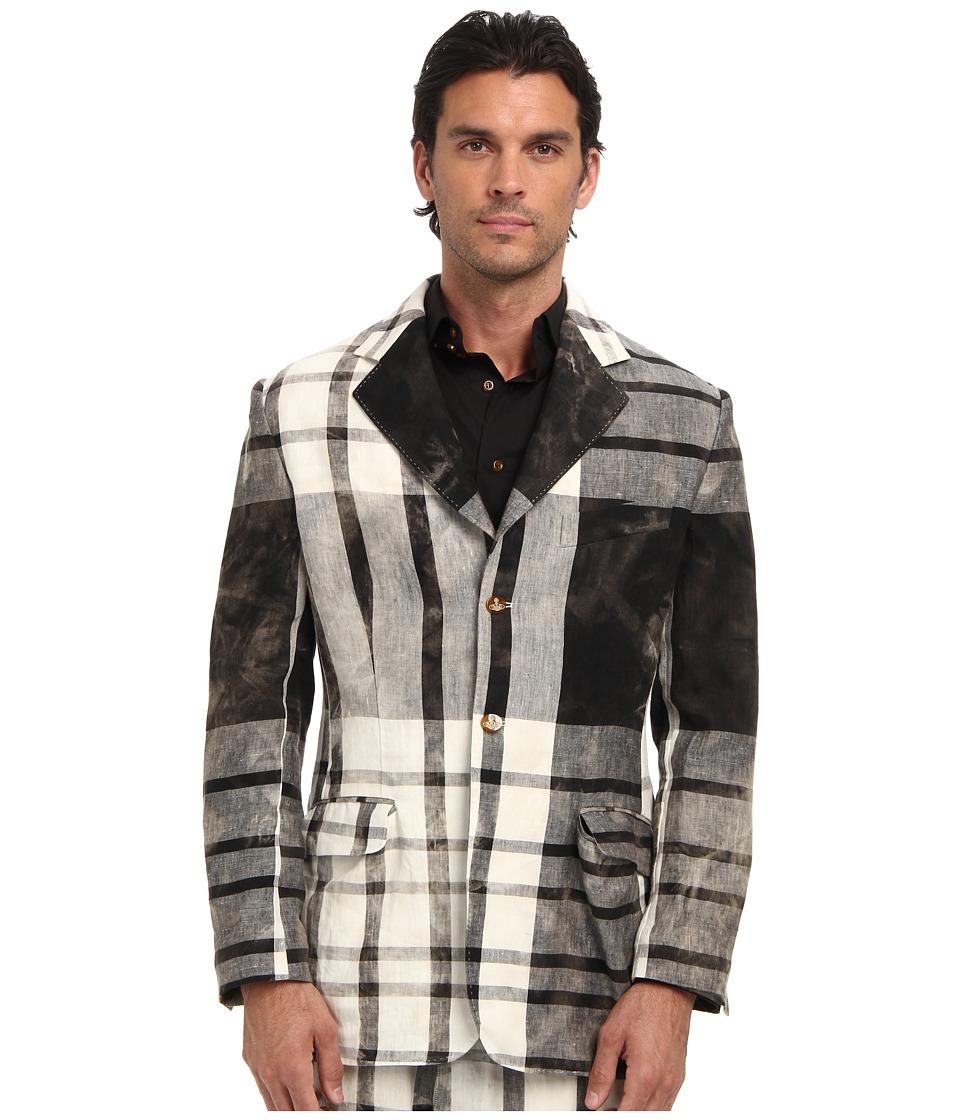 Vivienne Westwood MAN - RUNWAY Sandstorm Tartan Blazer (Black/White) Men's Jacket