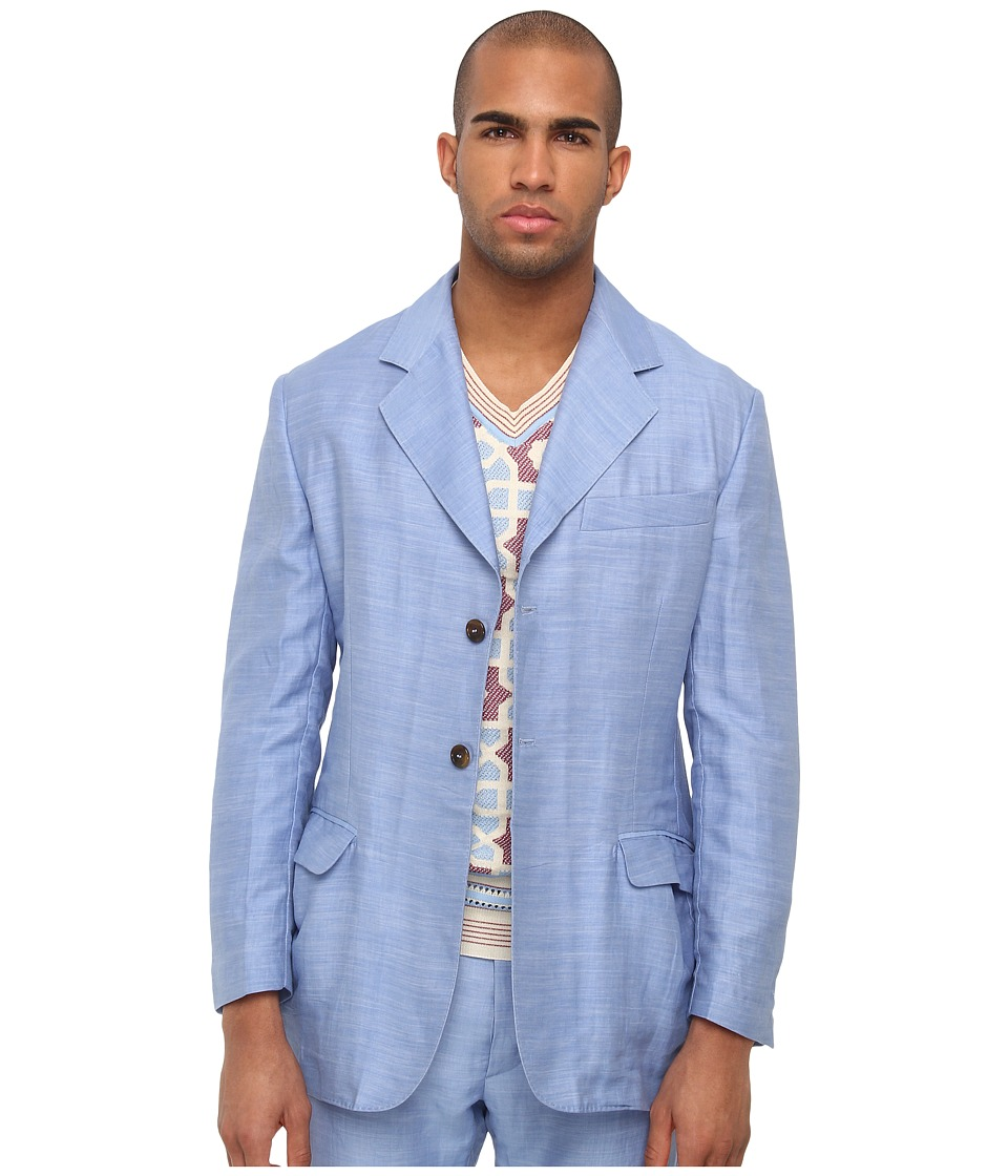 Vivienne Westwood MAN - RUNWAY Flame Blazer (Blue) Men's Jacket