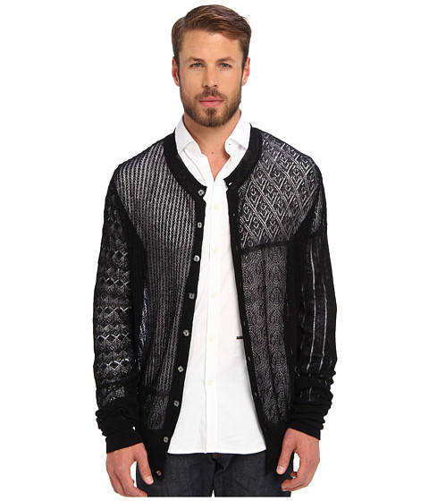 Vivienne Westwood MAN - Gold Label Patchwork Lace Cardigan (Black) Men