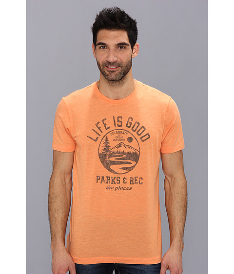 Life is good - Cool Tee 2 (Juicy Orange 2) Men