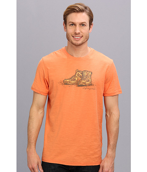 Life is good - Organic Rambler Crew Tee (Juicy Orange) Men's Short Sleeve Pullover