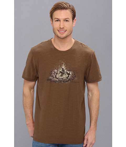 Life is good - Organic Rambler Crew Tee (Nutty Brown) Men's Short Sleeve Pullover