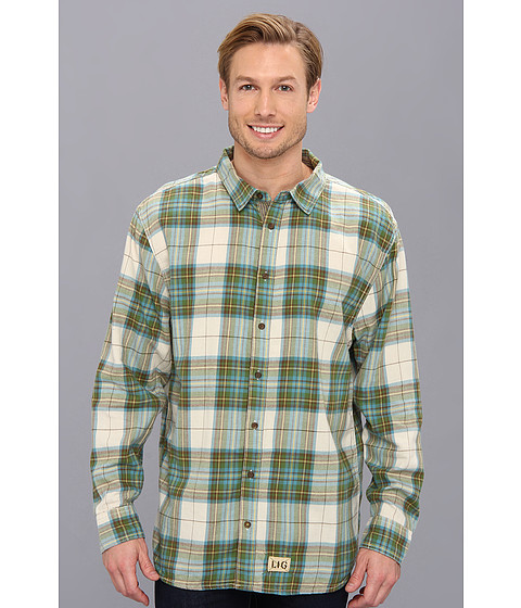 Life is good - Four Season Button Up (Putty White Plaid) Men