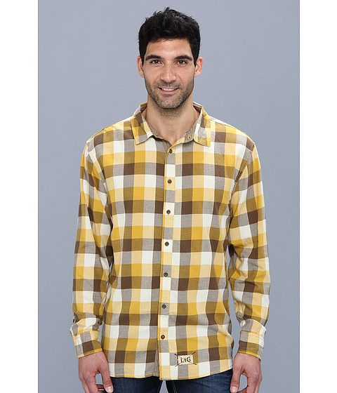 Life is good - Four Season Button Up (Summer Gold Plaid) Men