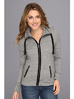 SALE! $31.99 - Save $57 on kensie Speckled French Terry Jacket (Black Combo) Apparel - 64.06% OFF $89.00