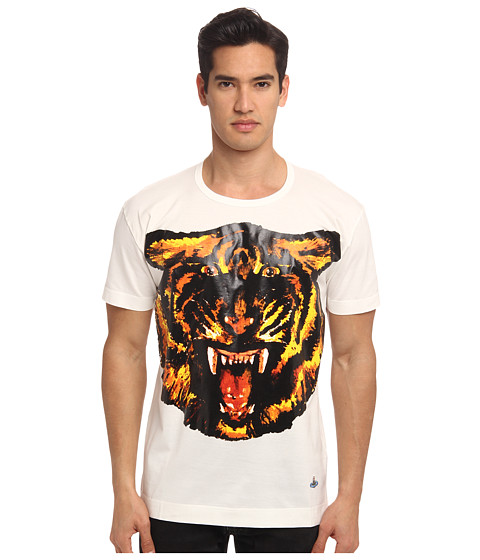 Vivienne Westwood MAN - Tiger Jersey Tee (White) Men