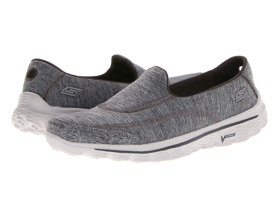 SKECHERS Performance - GoWalk 2 - Circuit (Gray) Women's Shoes