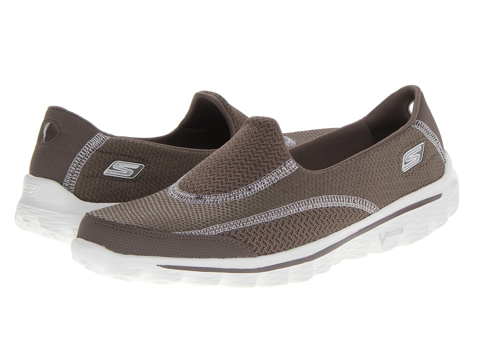 SKECHERS Performance - GoWalk 2 - Rush (Taupe) Women's Slip on Shoes