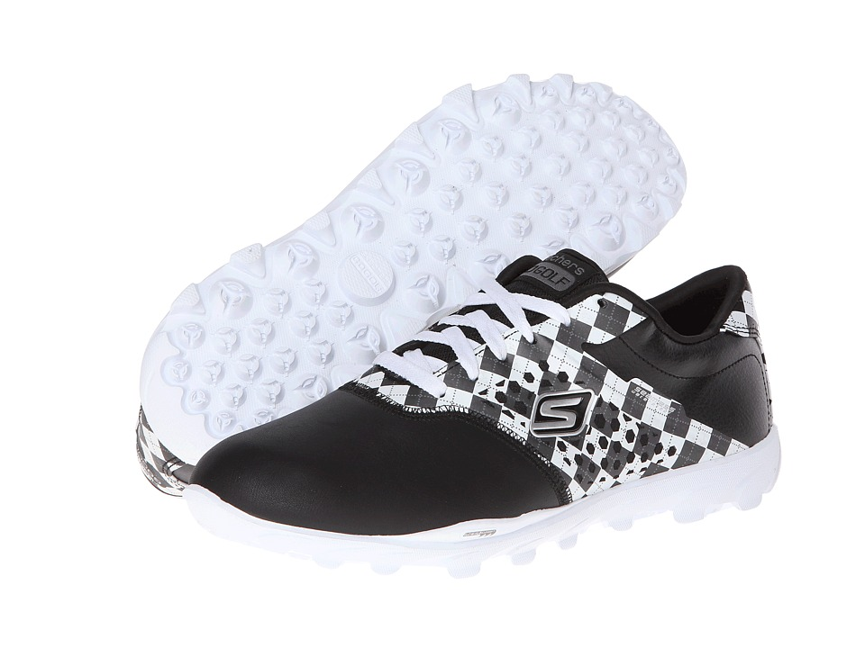 SKECHERS Performance - Go Golf (Black/White) Women's Shoes