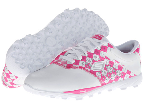 SKECHERS Performance - Go Golf (White/Pink) Women's Shoes