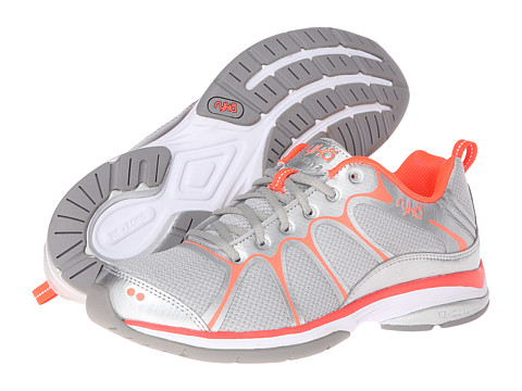 Ryka - Intensity 2 (Cool Mist Grey/Chrome Silver/Electric Coral/Frost Grey) Women