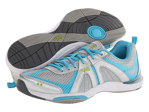 Ryka - Moxie (Chrome Silver/Detox Blue/Lime Blaze) Women's Cross Training Shoes