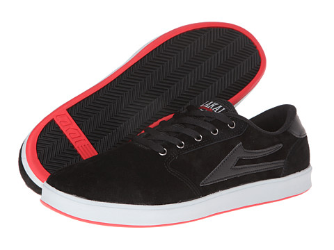 Lakai - Pico XLK (Black/Red Suede) Men
