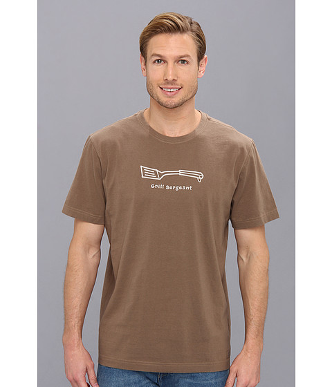 Life is good - Grill Sergeant Crusher Tee (Nutty Brown) Men's T Shirt