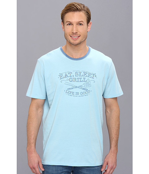 Life is good - Sleep Tee (Pale Blue) Men's Pajama