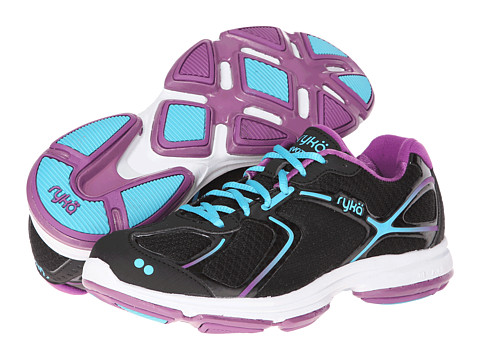 Ryka - Devotion (Black/Bright Violet/Detox Blue) Women
