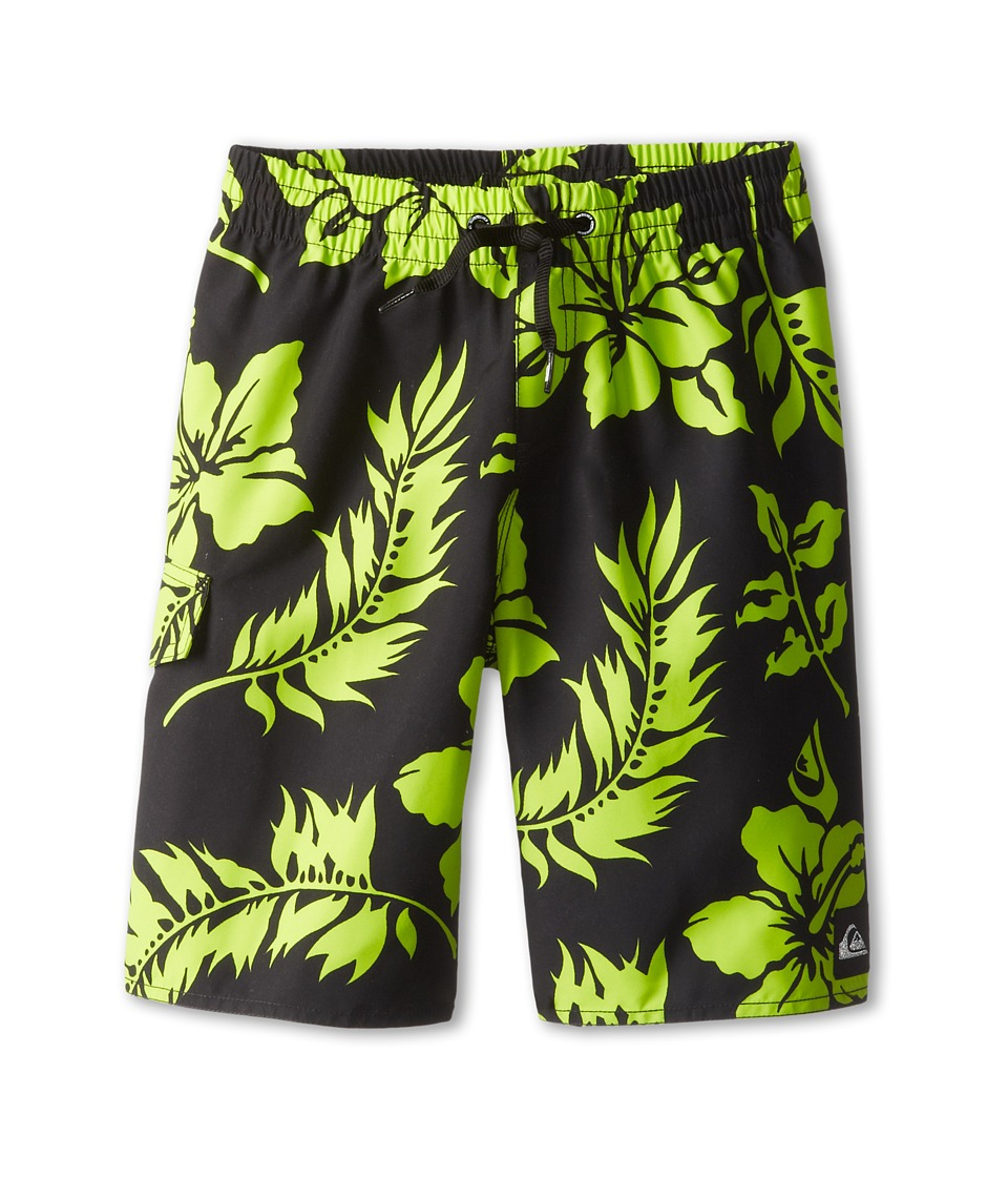 Quiksilver Kids - Shrimp Truck Volley (Little Kids/Big Kids) (Black) Boy's Swimwear