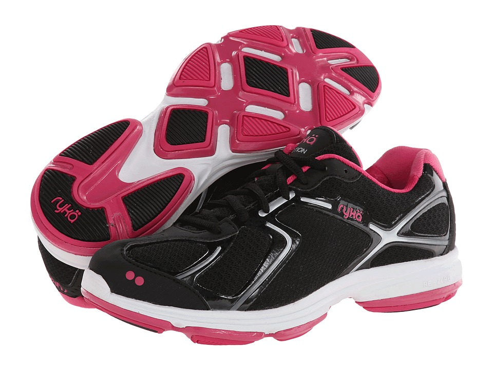 Ryka - Devotion (Black/Chrome Silver/Pink Scorch/White) Women's Shoes