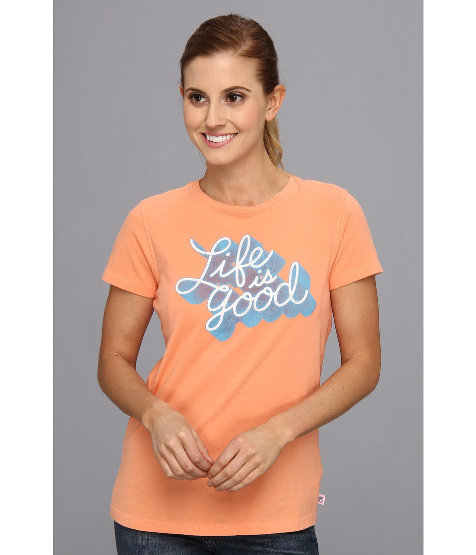 Life is good - LIG Creamy Tee (Sunkissed Orange) Women's Short Sleeve Pullover