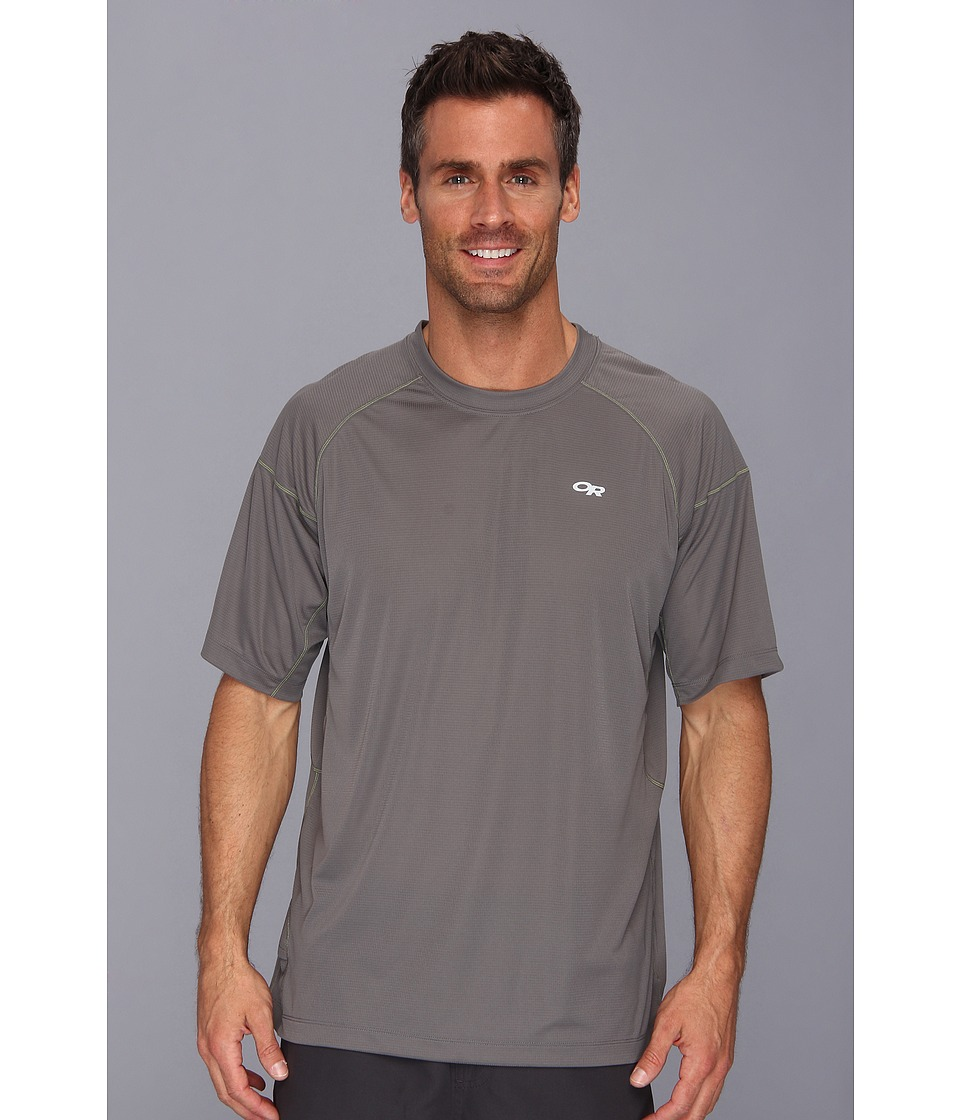 Outdoor Research - Echo Tee (Pewter/Lemongrass) Men's Short Sleeve Pullover