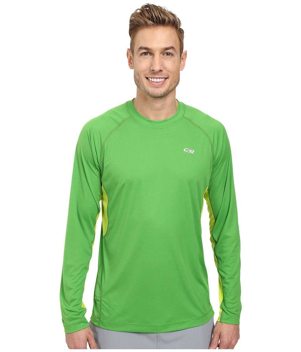 Outdoor Research - Echo L/S Duo Tee (Flash/Lemongrass) Men's Long Sleeve Pullover