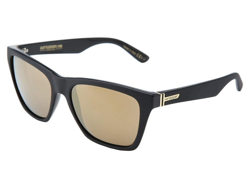 VonZipper - Booker (Battlestations Black/Gold Glo) Sport Sunglasses