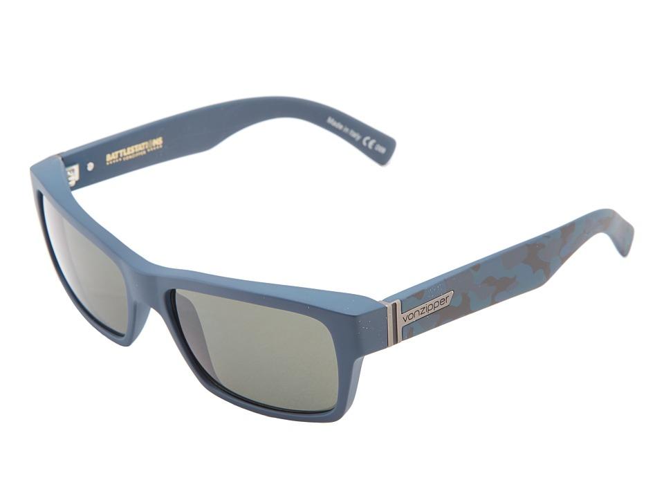 VonZipper - Fulton '13 (Battlestations Navy Kammo/Grey) Plastic Frame Sport Sunglasses