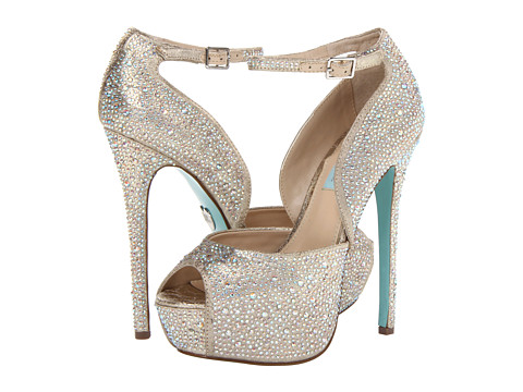 Blue by Betsey Johnson Kiss (Champagne Fabric) High Heels