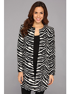SALE! $71.99 - Save $107 on Vince Camuto Zebra Jacquard Topper Coat (Rich Black) Apparel - 59.78% OFF $179.00