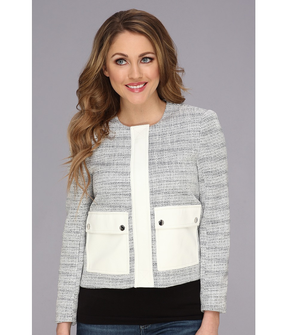 Vince Camuto - Two-Pocket Tweed Jacket (Light Cream) Women