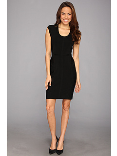 SALE! $109.99 - Save $59 on Vince Camuto Cap Sleeve Bandage Dress (Rich Black) Apparel - 34.92% OFF $169.00