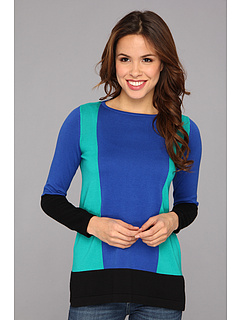 SALE! $44.99 - Save $34 on Vince Camuto Three Colorblock Sweater (Daark Cobalt) Apparel - 43.05% OFF $79.00
