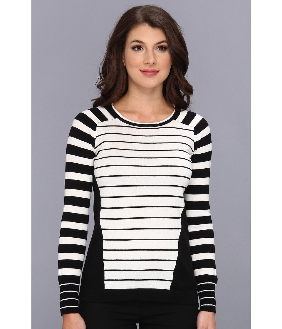 Vince Camuto - Mix Stripe Colorblock Pullover (New Ivory) Women