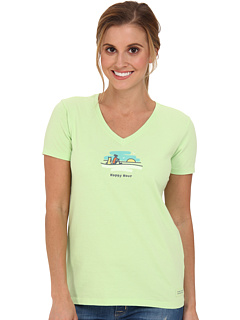 SALE! $16.99 - Save $9 on Life is good Happy Hour Crusher Tee (Lime Green) Apparel - 34.65% OFF $26.00