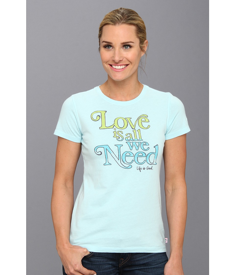 Life is good - Creamy Tee (Soft Blue) Women's T Shirt