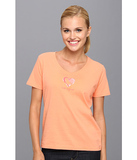 Life is good - Sleep Vee Tee (Sunkissed Orange) Women's Pajama
