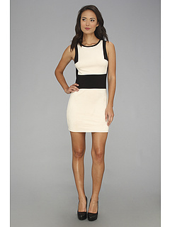 SALE! $69.99 - Save $69 on Sanctuary Suede Colorblock Dress (Black w Pearl) Apparel - 49.65% OFF $139.00