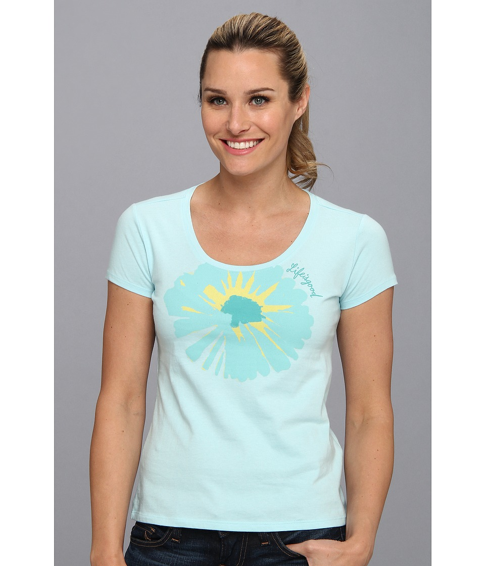 Life is good - Siesta Scoop Sleep Tee (Soft Blue) Women