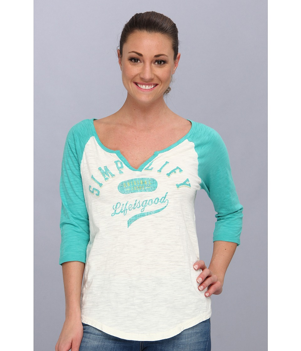 Life is good - Baseball Sleep Tee (Aqua Blue) Women's Pajama