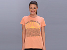 Life is good Cool Tee (Sunkissed Orange) Women's Short Sleeve Pullover
