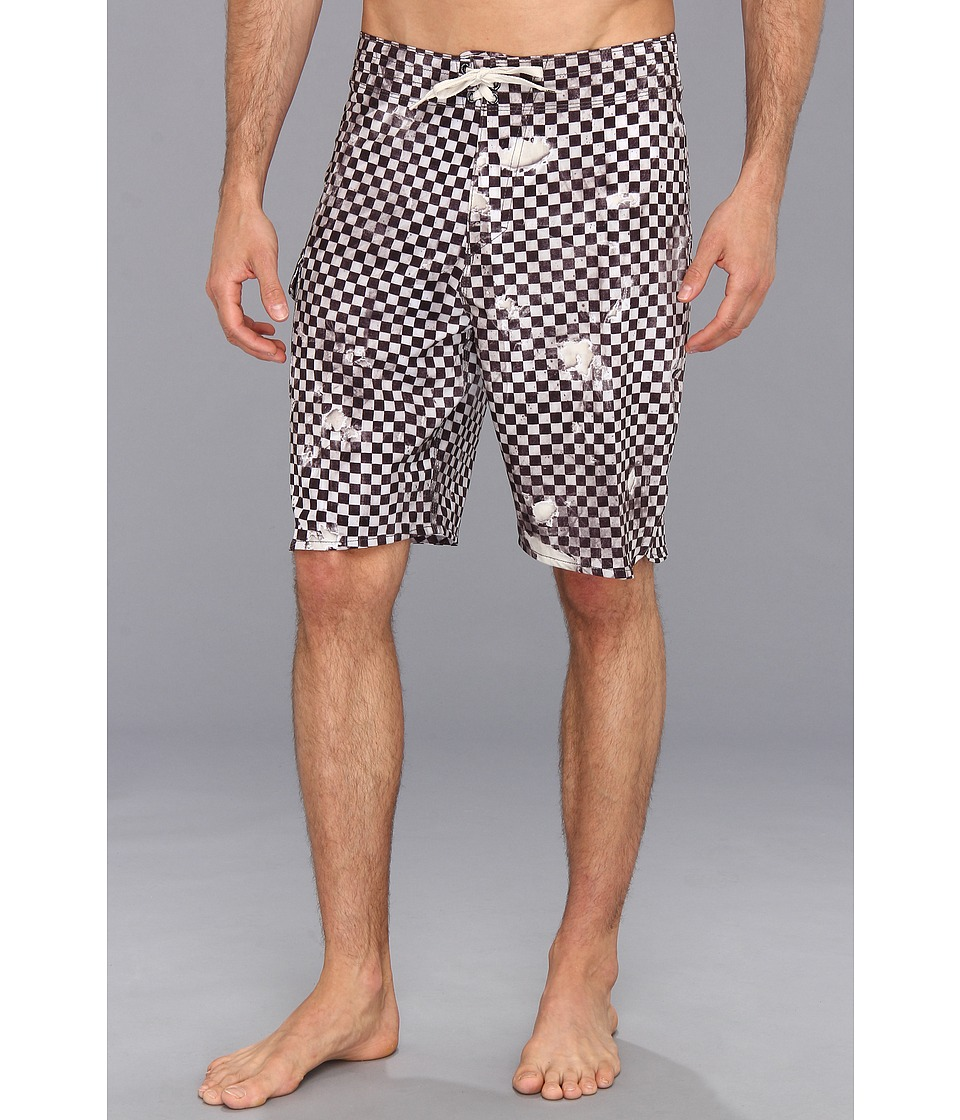 Vans - Era Stretch Boardshort 21 (Black/White) Men's Swimwear