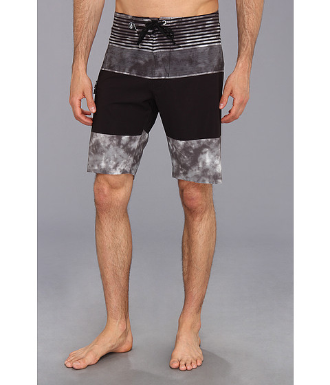 Volcom - Mod-Tech Linear Mod Boardshort (Grey) Men's Swimwear