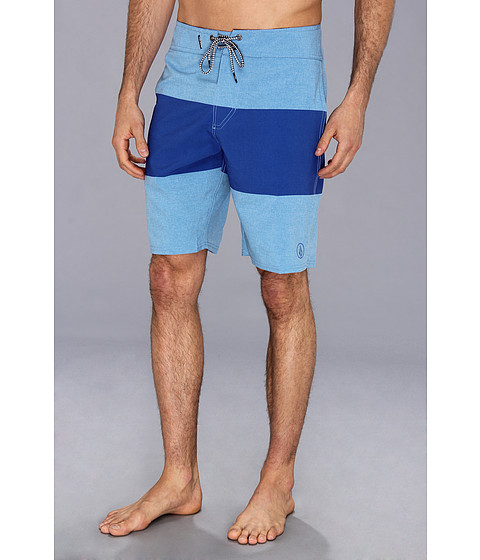Volcom - Mod-Stream Heather Stripe Boardshort (Cosmic Blue) Men's Swimwear