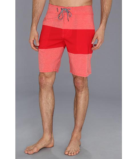 Volcom - Mod-Stream Heather Stripe Boardshort (Grapefruit) Men's Swimwear