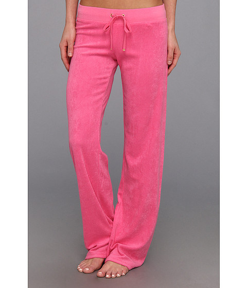 Juicy Couture - Original Terry Pant (Highlighter Pink) Women's Casual Pants