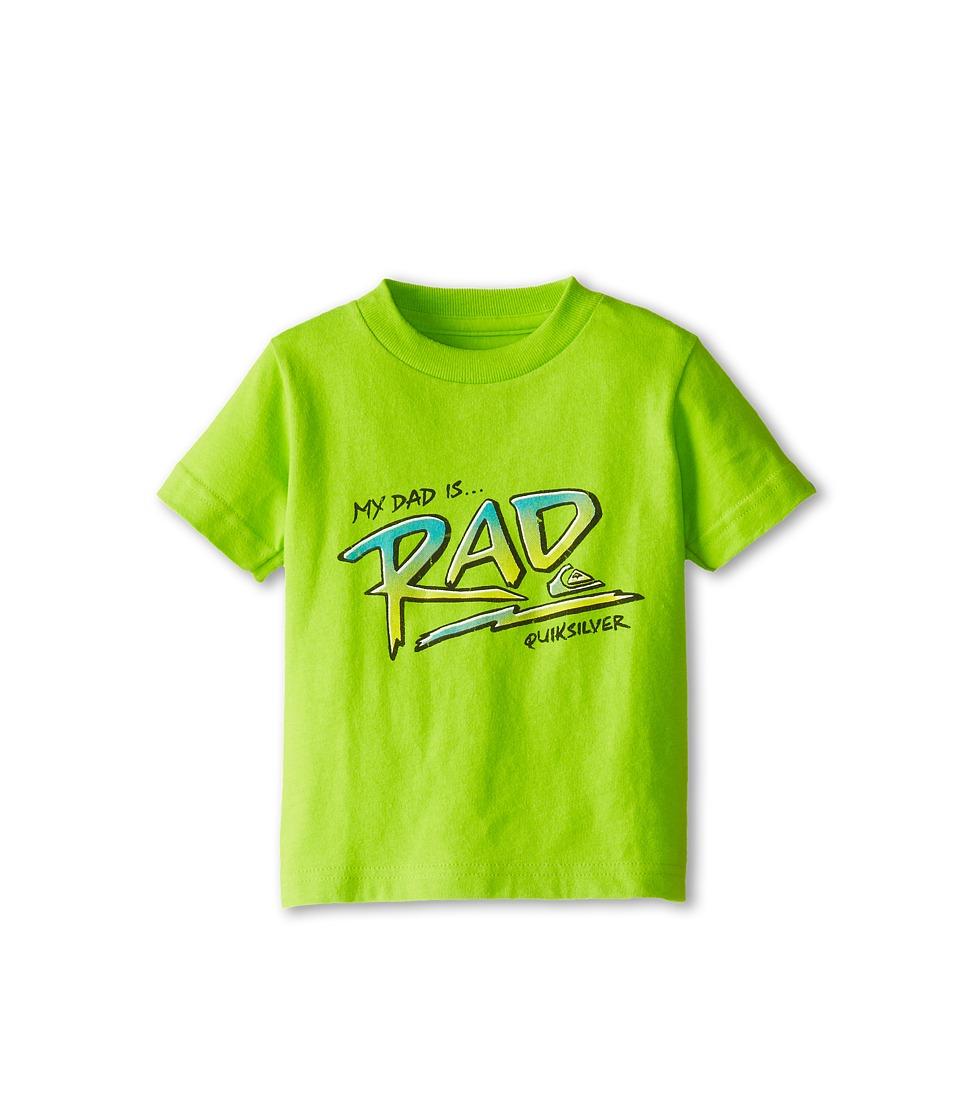 Quiksilver Kids Dad Is Rad Tee Boys T Shirt (Green)
