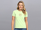 Life is good Fresh Crab Crusher Tee (Lime Green) Women's T Shirt