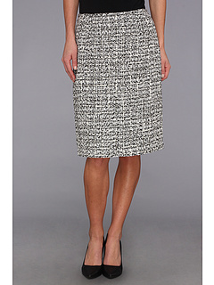 SALE! $44.99 - Save $44 on Calvin Klein Tweed Pencil Skirt (Black Silver Cream) Apparel - 49.45% OFF $89.00